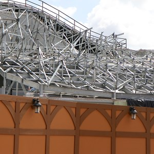 19 of 20: Fantasyland - Seven Dwarfs Mine Train coaster construction