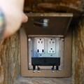 Fantasyland - USB charging in Fantasyland's Rapunzel restroom area