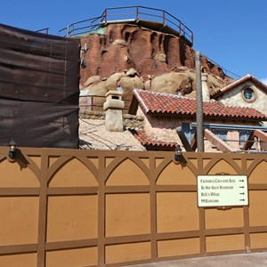 3 of 14: Fantasyland - Seven Dwarfs Mine Train coaster construction