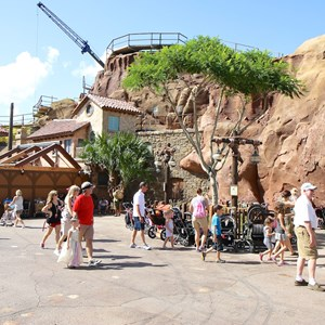 5 of 14: Fantasyland - Seven Dwarfs Mine Train coaster construction