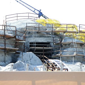 6 of 14: Fantasyland - Seven Dwarfs Mine Train coaster construction