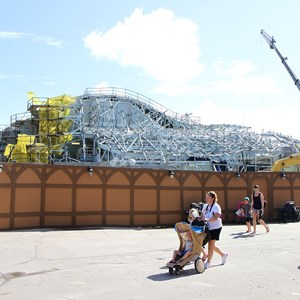 10 of 14: Fantasyland - Seven Dwarfs Mine Train coaster construction