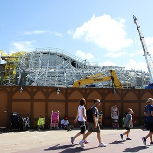 12 of 14: Fantasyland - Seven Dwarfs Mine Train coaster construction