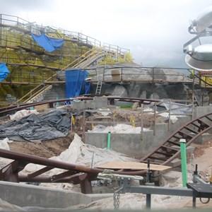 2 of 15: Fantasyland - Seven Dwarfs Mine Train coaster construction