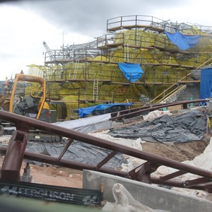 3 of 15: Fantasyland - Seven Dwarfs Mine Train coaster construction