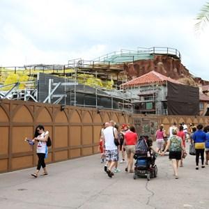 4 of 15: Fantasyland - Seven Dwarfs Mine Train coaster construction