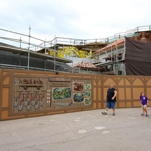 5 of 15: Fantasyland - Seven Dwarfs Mine Train coaster construction