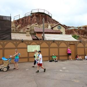 6 of 15: Fantasyland - Seven Dwarfs Mine Train coaster construction