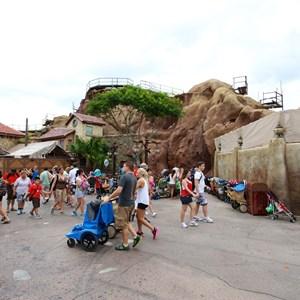 8 of 15: Fantasyland - Seven Dwarfs Mine Train coaster construction