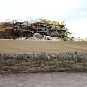 10 of 15: Fantasyland - Seven Dwarfs Mine Train coaster construction