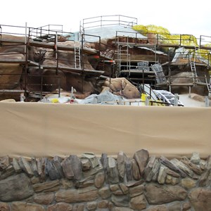 11 of 15: Fantasyland - Seven Dwarfs Mine Train coaster construction