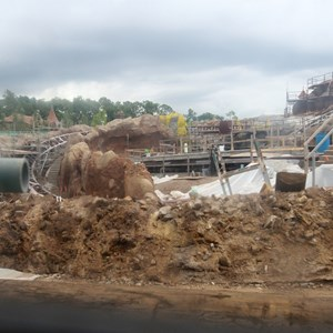 12 of 15: Fantasyland - Seven Dwarfs Mine Train coaster construction