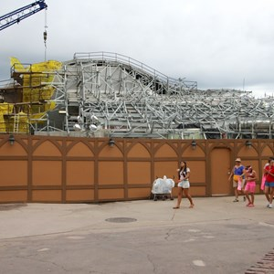 13 of 15: Fantasyland - Seven Dwarfs Mine Train coaster construction