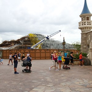 14 of 15: Fantasyland - Seven Dwarfs Mine Train coaster construction