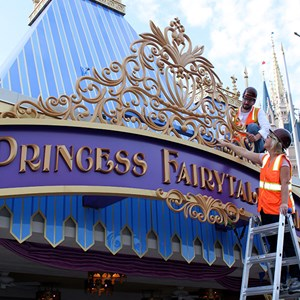 1 of 1: Fantasyland - Princess Fairytale Hall entrance marquee