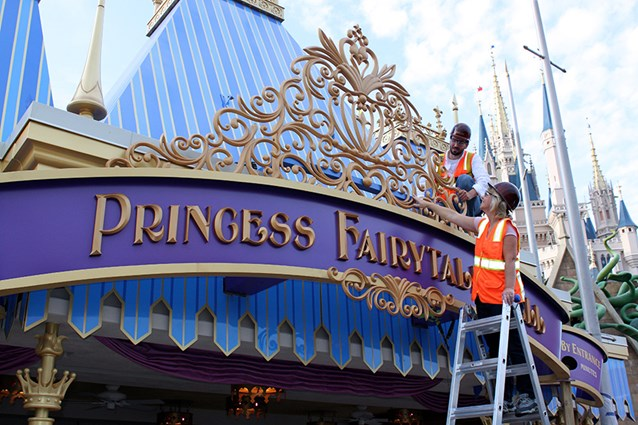 Fantasyland - Princess Fairytale Hall entrance marquee