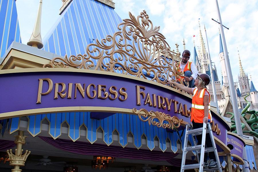 Princess Fairytale Hall entrance marquee