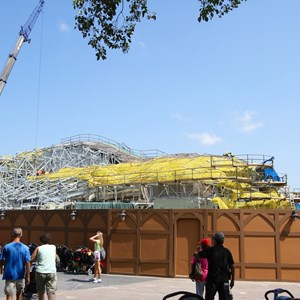 1 of 28: Fantasyland - Seven Dwarfs Mine Train coaster construction
