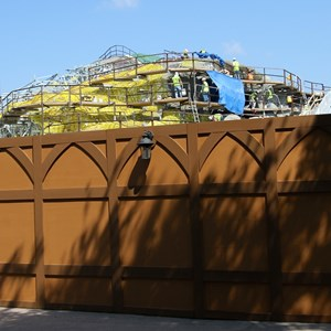 2 of 28: Fantasyland - Seven Dwarfs Mine Train coaster construction