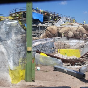3 of 28: Fantasyland - Seven Dwarfs Mine Train coaster construction