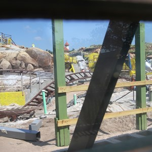 4 of 28: Fantasyland - Seven Dwarfs Mine Train coaster construction