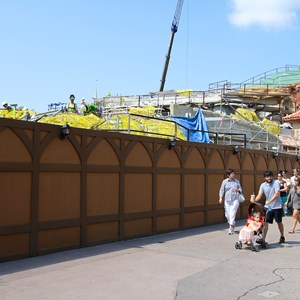 9 of 28: Fantasyland - Seven Dwarfs Mine Train coaster construction