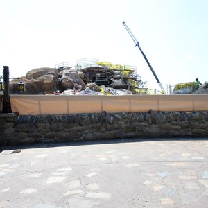 17 of 28: Fantasyland - Seven Dwarfs Mine Train coaster construction