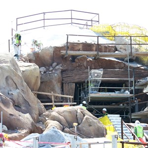 18 of 28: Fantasyland - Seven Dwarfs Mine Train coaster construction