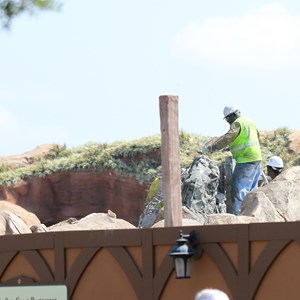 23 of 28: Fantasyland - Seven Dwarfs Mine Train coaster construction