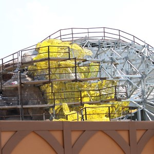 24 of 28: Fantasyland - Seven Dwarfs Mine Train coaster construction