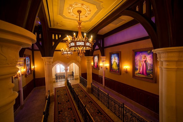 Fantasyland - Inside Princess Fairytale Hall - The queue area