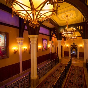 2 of 4: Fantasyland - Inside Princess Fairytale Hall - The queue area