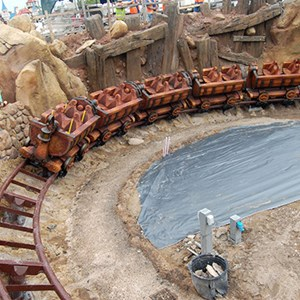 1 of 2: Fantasyland - Seven Dwarfs Mine Train completes first drop