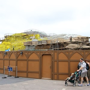 1 of 15: Fantasyland - Seven Dwarfs Mine Train coaster construction