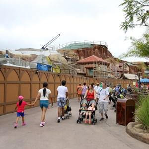 4 of 15: Fantasyland - Seven Dwarfs Mine Train coaster construction
