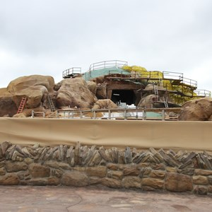 10 of 15: Fantasyland - Seven Dwarfs Mine Train coaster construction