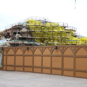 15 of 15: Fantasyland - Seven Dwarfs Mine Train coaster construction