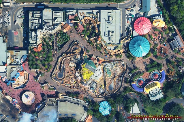 Fantasyland - Aerial view of New Fantasyland October 2013