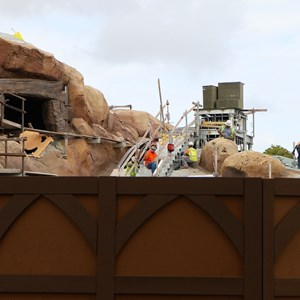 3 of 22: Fantasyland - Seven Dwarfs Mine Train coaster construction