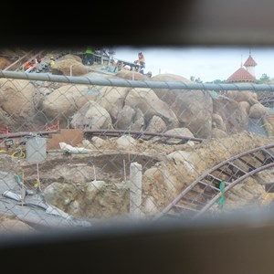 5 of 22: Fantasyland - Seven Dwarfs Mine Train coaster construction