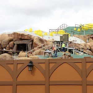 6 of 22: Fantasyland - Seven Dwarfs Mine Train coaster construction