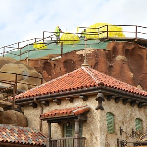 8 of 22: Fantasyland - Seven Dwarfs Mine Train coaster construction