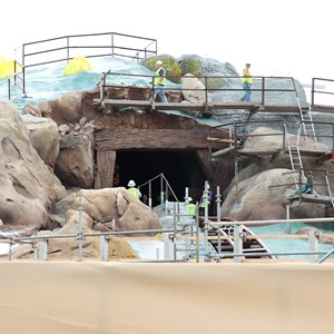 12 of 22: Fantasyland - Seven Dwarfs Mine Train coaster construction