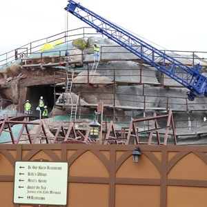 13 of 22: Fantasyland - Seven Dwarfs Mine Train coaster construction