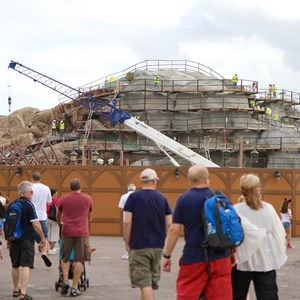 14 of 22: Fantasyland - Seven Dwarfs Mine Train coaster construction