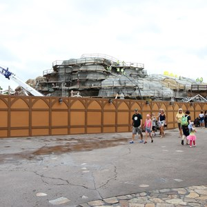 19 of 22: Fantasyland - Seven Dwarfs Mine Train coaster construction