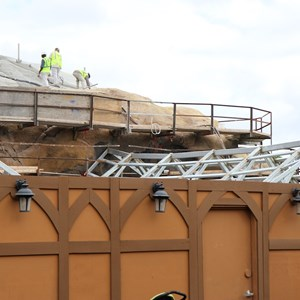 20 of 22: Fantasyland - Seven Dwarfs Mine Train coaster construction