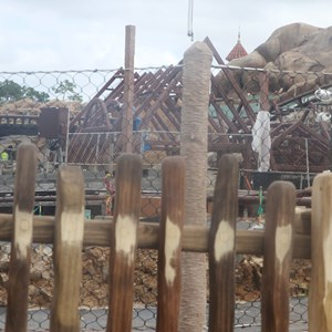21 of 22: Fantasyland - Seven Dwarfs Mine Train coaster construction