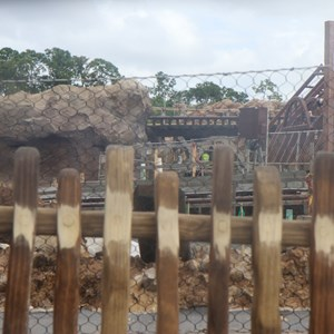 22 of 22: Fantasyland - Seven Dwarfs Mine Train coaster construction
