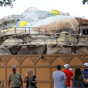 6 of 19: Fantasyland - Seven Dwarfs Mine Train coaster construction